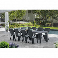 Allibert table double julie graphite 294x92x74 cm