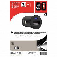 Eloto connexion chargeur 12v/24v USB 1A