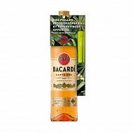 Bacardi Carta Oro 70cl 37.5%vol + Pailles