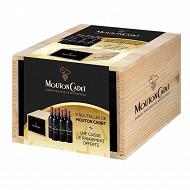 AOC Bordeaux caisse bois 6x75cl Mouton Cadet rouge 13%vol
