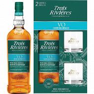 Trois Rivières rhum agricole vieux 70cl + 2 verres offerts 40%vol