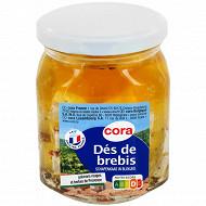 Cora dés de brebis huiles herbes de provence et poivrons rouge - 300g