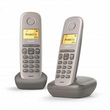 Gigaset Téléphone sans fil sans répondeur A170 DUO UMBRA