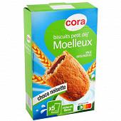 Cora moelleux fourre choco noisette 250g