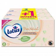Lotus mouchoirs pure 2+1 gratuits blanc