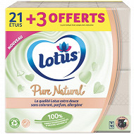 Lotus mouchoirs pure 21+3 blanc