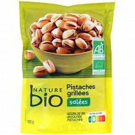 Nature bio pistaches grillées salées bio 100g