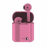 Izytronic Ecouteurs sans fil true wireless bt4.2 rose IZY-Q7-TWS-PINK