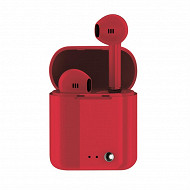 Izytronic Ecouteurs sans fil tw bt4.2 rouge IZY-Q7-TWS-RED