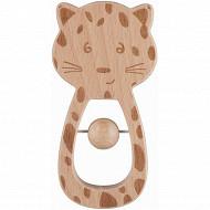 Hochet en bois fsc- léopard- safari Bébé Confort