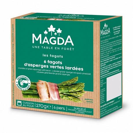 Magda fagots d'asperges vertes lardées 270g