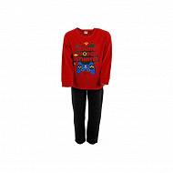Pyjama garçon velours RED/BLACK 6 ANS