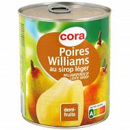 Cora poires williams 1/2 au sirop léger 825g