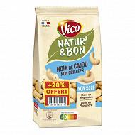 Natur'& bon noix de cajou naturelles non salées 200g + 20% offert