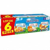 Naturnes selections riz poulet/carotte saumon/pdt boeuf tomate 6x200g 6mois