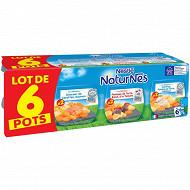 Naturnes selection carottes saumon / pdt boeuf tomate / carotte pdt cabillaud 6x200g 6 mois