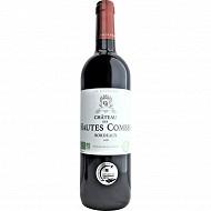 Bordeaux Rouge Château des Hautes Combes Bio Sans Ajoutés 14.5% Vol.75cl