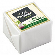Pavé d'affinois ail & fines herbes 150g  lait pasteurisé 30% mg