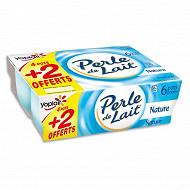 Perle de lait nature 4x125g +2 offerts