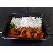 Poulet basquaise et riz