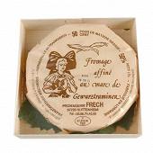 Fromage affiné au marc de gewurztraminer 28%mg/pt au kilo