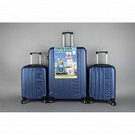 Lot d'une valise 79cm + 2 valises 55cm bleu foncé