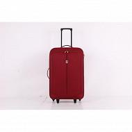Valise souple 70 cm rouge