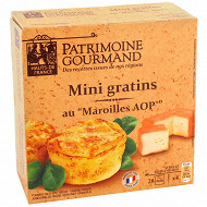 Patrimoine gourmand mini gratin pdt maroilles 4x100g