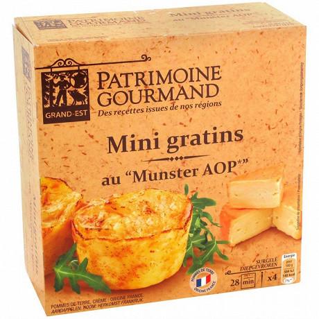 Patrimoine Gourmand mini gratin pdt munster 4x100g