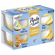Perle de lait nuances exotiques 4x95g