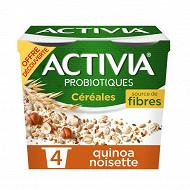 Activia bifidus céréales quinoa noisette 4x120g offre découverte