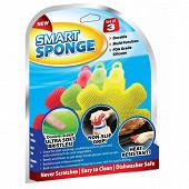 Lot de 3 éponges en silicone smart sponge