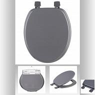 Abattant wc coloris gris