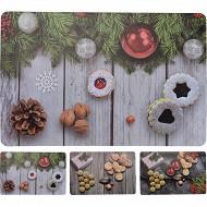 Set de table décor noël nature