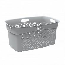 Corbeille à linge almeria gris beton 45l