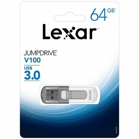 Lexar Clé usb 64 gb 3.0 jump drive V100 LJDV10064GABGY