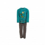 Pyjama long velours garçon VERT 10ANS