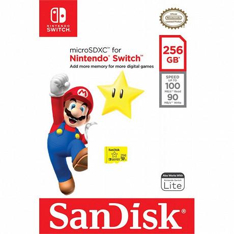 Sandisk Carte micro sd nintendo switch 256 go SDSQXAO-256G-GNCZN
