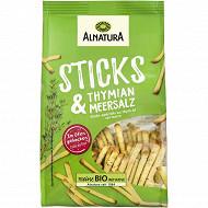 Alnatura sticks apéritifs au thym et sel marin 100g