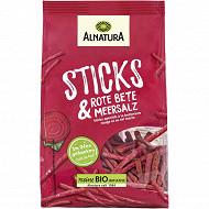 Alnatura sticks apéritifs à la betterave rouge et sel marin 100g