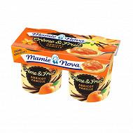Mamie Nova crème et fruits abricot vanille 2x140g