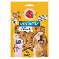 Pedigree dentastix chewy chunx saveur poulet pour chiens de 15 kg et pl