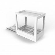 Rangement coulissant mobilio pour meuble blanc