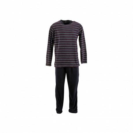 Pyjama micro polaire homme MARINE RAYE/MARINE XXL