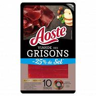 Aoste viande des grisons taux de sel réduit 70g