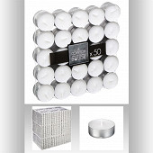 Bougie chauffe plat x50 coloris blanc