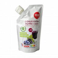 Coulis de fruits myrtille cassis 500ml