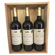 Coffret Bordeaux Hauts de Bel Air 13.5% Vol.3x75cl