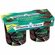 Mamie Nova gourmand fondant chocolat menthe 2x150g offre de mamie