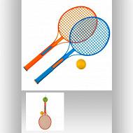 Raquette tennis x2 + balle
